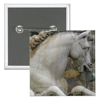 Escultura italiana del renacimiento de un caballo pin cuadrado