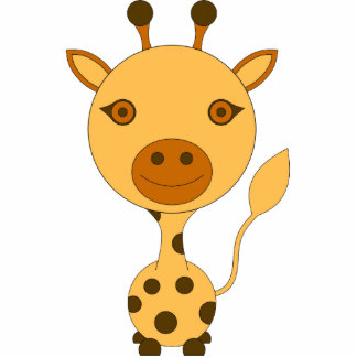 Escultura jirafa decoración habitación niño bebé fotoescultura vertical