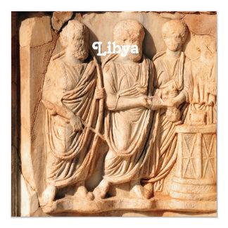 Escultura libia invitación 13,3 cm x 13,3cm