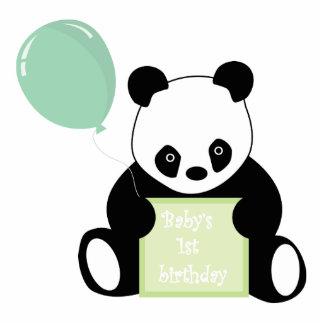 Escultura linda del oso de panda del 1r cumpleaños escultura fotografica