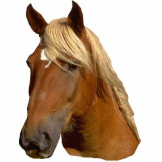 Escultura mained oro hermoso del caballo esculturas fotograficas