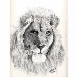 Escultura masculina de la foto del león escultura fotográfica