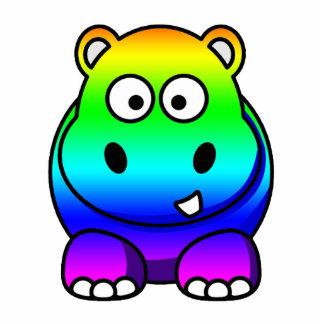 Escultura multicolora de la foto del hipopótamo de esculturas fotográficas