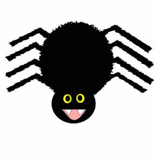Escultura negra de la foto de la araña fotoescultura vertical