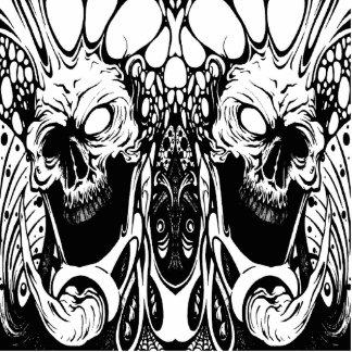escultura orgánica de la foto del cráneo fotoescultura vertical