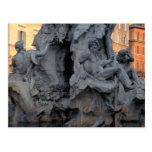 Escultura postal de Roma, Italia de la fuente
