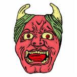 Escultura principal de la foto del diablo japonés escultura fotográfica