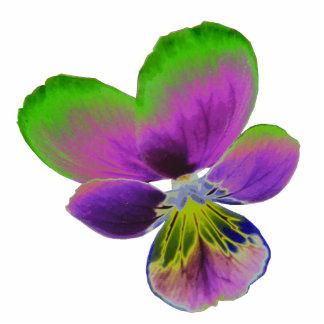 Escultura púrpura y verde de la foto del pensamien esculturas fotográficas