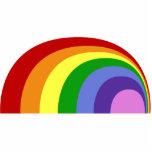 Escultura retra de la foto del arco iris escultura fotografica