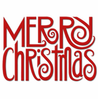 Escultura roja de la foto de las Felices Navidad Fotoescultura Vertical