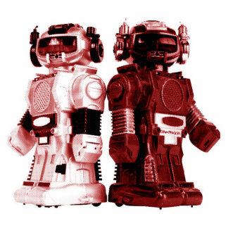 escultura roja de la foto de los robots fotoescultura vertical