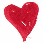 Escultura roja de la foto del corazón esculturas fotograficas