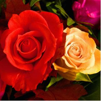 Escultura roja de la foto del rosa amarillo esculturas fotograficas