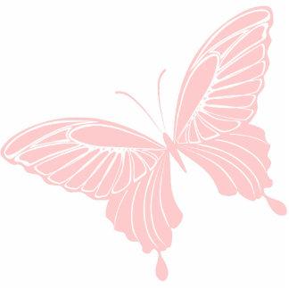 Escultura rosada de la foto de la mariposa fotoescultura vertical