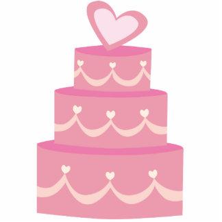 Escultura rosada de la foto de la torta fotoescultura vertical