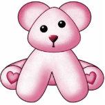 Escultura rosada de la pared del oso de peluche esculturas fotograficas