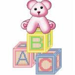 Escultura rosada de la pared del oso esculturas fotograficas