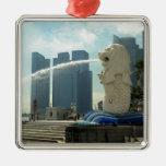 Escultura Singapur de Merlion Ornamento De Navidad