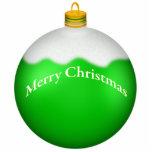 Escultura verde de la foto del ornamento del navid esculturas fotográficas