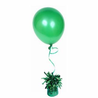 Escultura verde del globo fotoescultura vertical