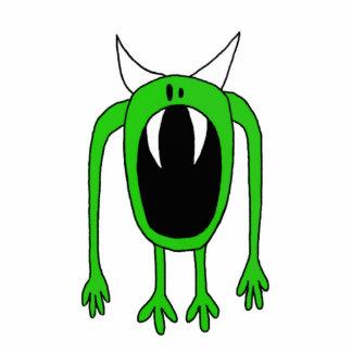 Escultura verde del monstruo escultura fotografica