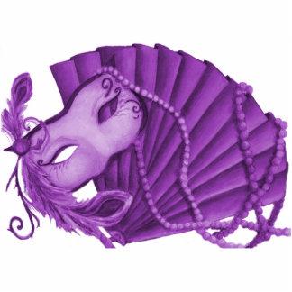 Escultura violeta de la foto de la mascarada esculturas fotográficas