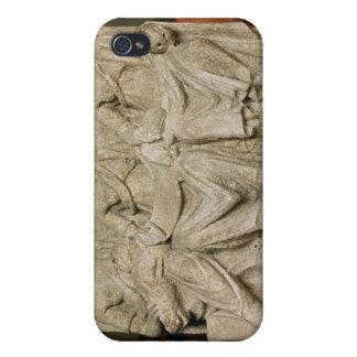 Escultura votiva de una deidad triple de la madre iPhone 4 carcasa