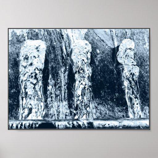 Esculturas de cristal póster