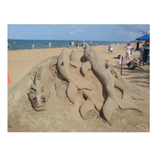 Esculturas de la arena tarjetas postales