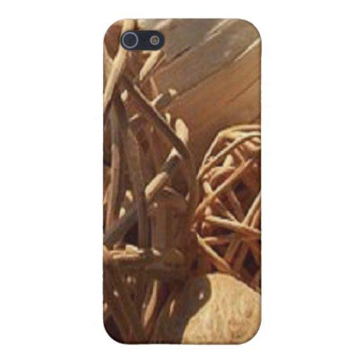 Esculturas de madera iPhone 5 carcasa