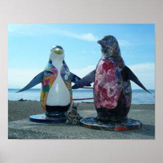 Esculturas del arte del pingüino - F3975 Impresiones