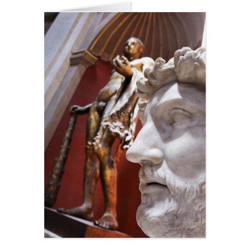 Esculturas dentro del museo de Vatican, Ciudad del Tarjeta De Felicitación