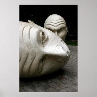 Esculturas, escuela de Uc Davis de artes Póster