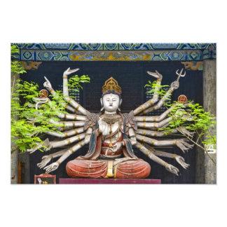 Esculturas pintadas antiguas en Shuanglin Cojinete