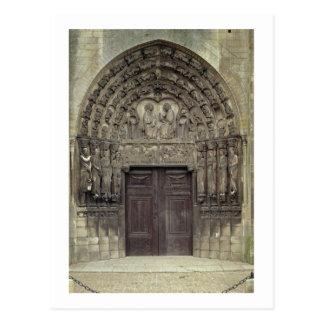 Esculturas porta y circundantes con el fi bíblico tarjetas postales