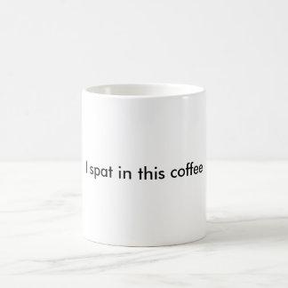escupido en café taza de café
