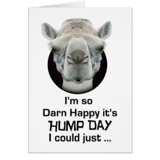 Escupitajo divertido feliz del camello del día de  tarjeta de felicitación