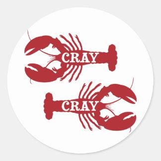 Ese cangrejo de Cray Cray crustáceo Pegatina Redonda