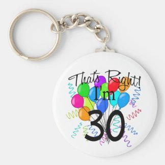 Ése correcto que soy 30 - cumpleaños llaveros personalizados