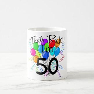 Ése correcto que soy 50 - cumpleaños tazas de café