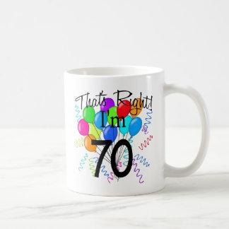 Ése correcto que soy 70 - cumpleaños tazas