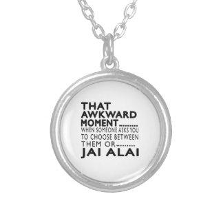 Ese diseños torpes de Jai Alai del momento Collar Personalizado