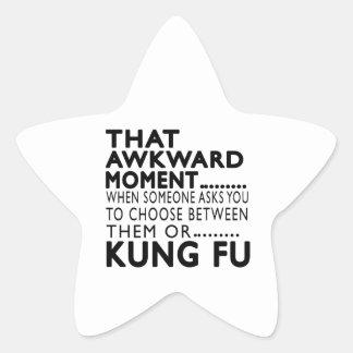 Ese diseños torpes de Kung Fu del momento Pegatinas Forma De Estrella Personalizadas