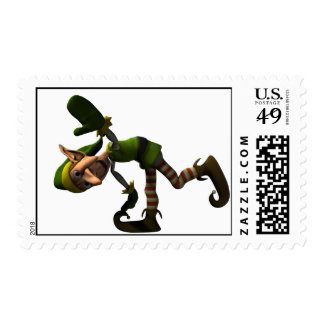 Ese duende loco sello postal