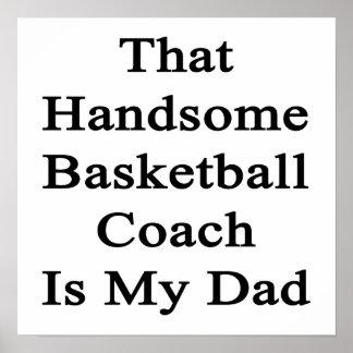 Ese entrenador de béisbol hermoso es mi papá impresiones