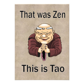 Ése era zen éste es Tao Comunicados