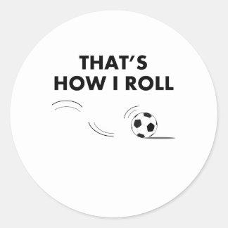 Ése es cómo ruedo fútbol pegatina redonda