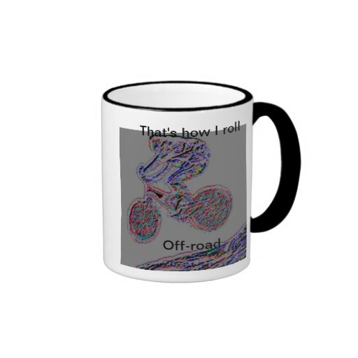 Ése es cómo ruedo la taza de café campo a través