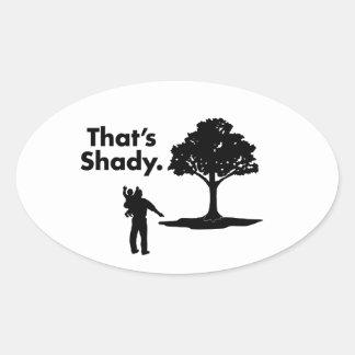 Ése es el humor sombrío 90s del árbol el | del | calcomanía óval personalizadas