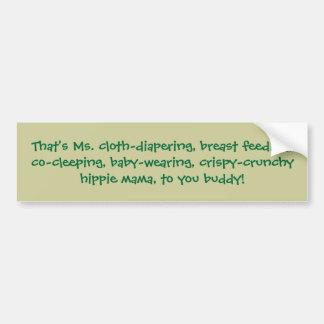 Ése es el paño-diapering del ms pecho-alimentando etiqueta de parachoque